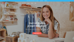 Screenshot van de website van Shoppagina
