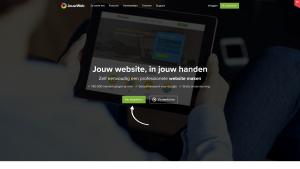 Screenshot van de website van JouwWeb Webwinkel