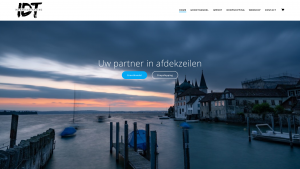 Screenshot van de website van Infradesk Trading