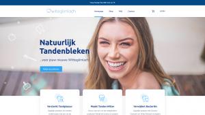 Screenshot van de website van Witte Glimlach