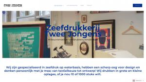 Screenshot van de website van Twee Jongens