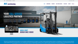 Screenshot van de website van ALC Warehousing