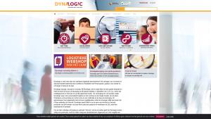 Screenshot van de website van Dynalogic