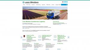 Screenshot van de website van Leen Menken