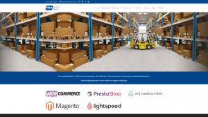 Screenshot van de website van Fulfillment Service Almere