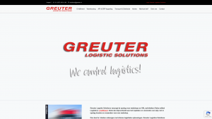Screenshot van de website van Greuter Logistic Solutions