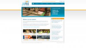 Screenshot van de website van Japak