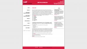 Screenshot van de website van LEF