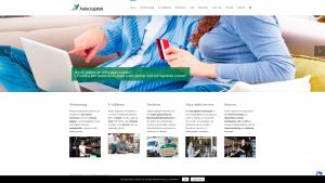 Screenshot van de website van Audax Logistiek