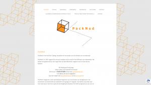 Screenshot van de website van Packned