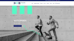 Screenshot van de website van Promese