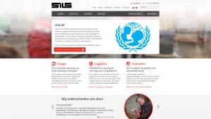 Screenshot van de website van SILS