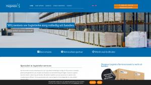 Screenshot van de website van Hopman Logistics