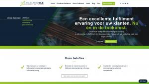 Screenshot van de website van E-Fulfillmenthub