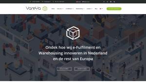 Screenshot van de website van Vareya