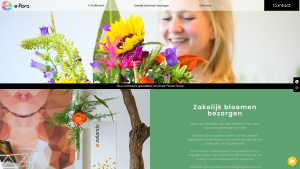 Screenshot van de website van E-Flora