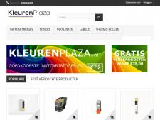 Screenshot van de website van Kleurenplaza