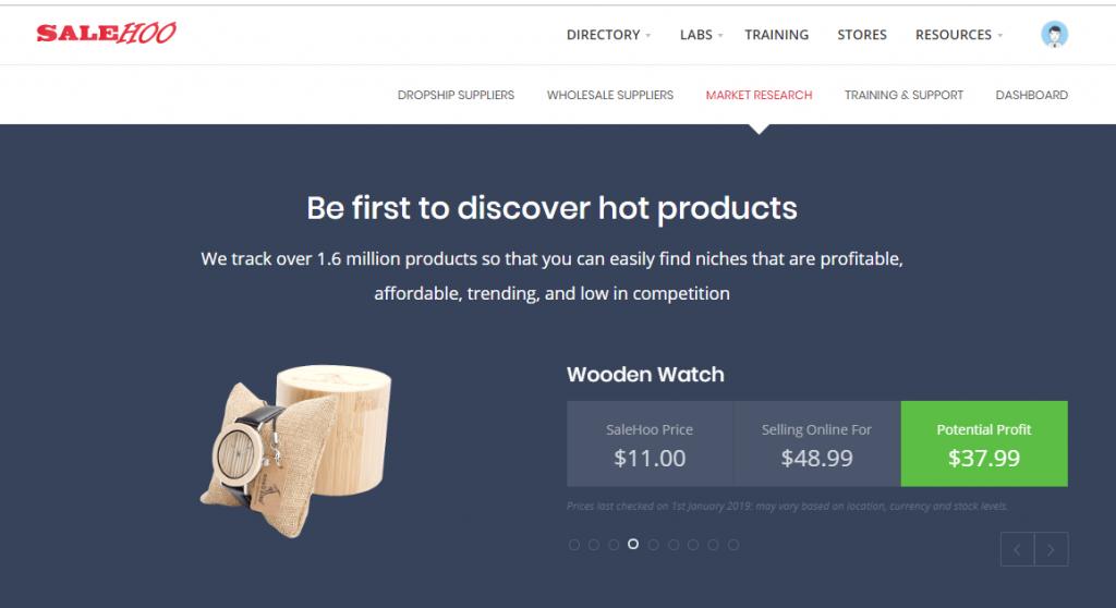 Vind winstgevende producten voor je webwinkel met Salehoo